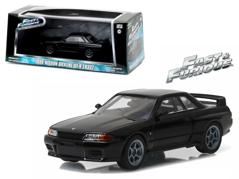 1989 Nissan Skyline GT-R R32 Fast and Furious Fast 7 Movie 2015 1/43 Diecast Model Car Greenlight 86229