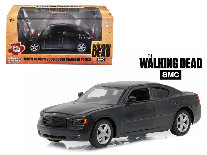 """Daryl Dixon's 2006 Dodge Charger Police """"The Walking Dead"""" TV Series (2010-Current) 1/43 Diecast Model Car Greenlight 86505"""