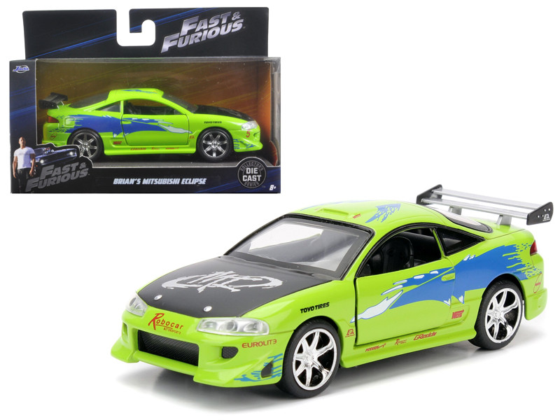 Brian's 1995 Mitsubishi Eclipse Fast & Furious Movie 1/32 Diecast Model Car by Jada 97609