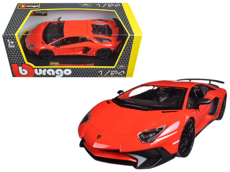 Lamborghini Aventador LP750-4 Red 1/24 Diecast Model Car Bburago 21079