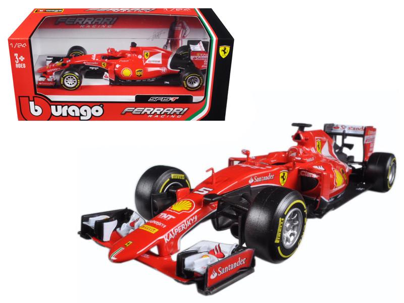 Ferrari F1 Formula 1 SF15-T Sebastian Vettel 1/24 Diecast Model Car Bburago 26801 V