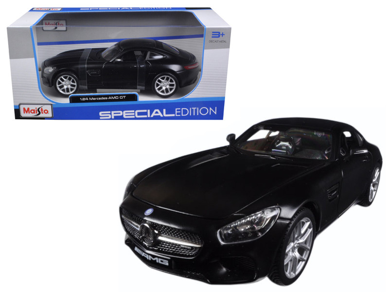 Mercedes AMG GT Matt Black 1/24 Diecast Model Car Maisto 31134