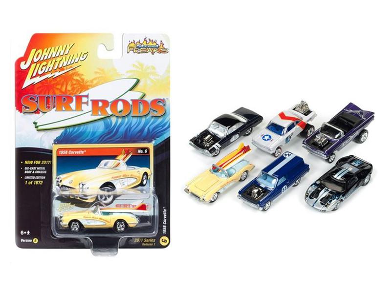 Street Freaks 2017 Release 1B Set of 6 Cars 1/64 Diecast Model Cars by Johnny Lightning