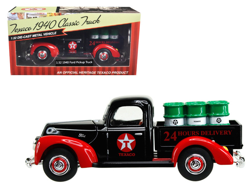 1940 Ford Pickup Truck Texaco with Oil Barrels 1/32 Diecast Model Car Beyond Infinity 0613
