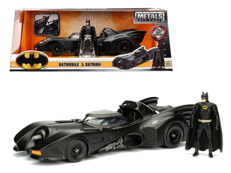 1989 Batmobile with Diecast Batman Figure 1/24 Diecast Model Car Jada 98260