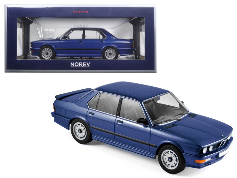 1987 BMW M535i Blue Metallic 1/18 Diecast Model Car Norev 183267