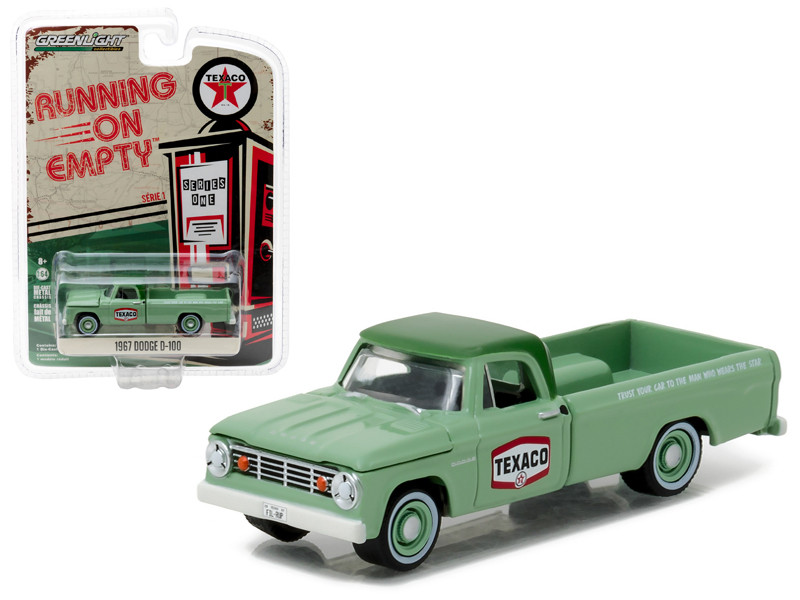 1967 Dodge D-100 Texaco Pickup Truck 1/64 Diecast Model Car Greenlight 41010 C