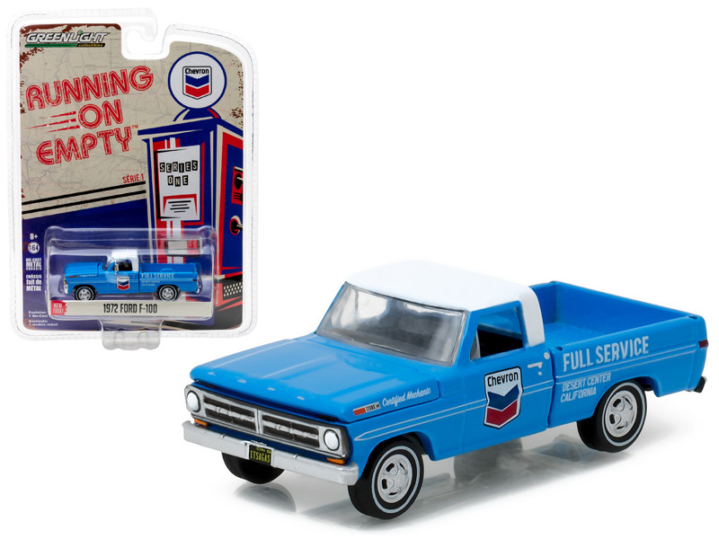 1972 Ford F-100 Chevron Pickup Truck 1/64 Diecast Model Car Greenlight 41010 F