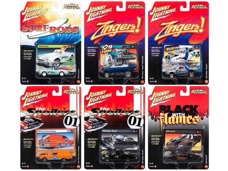Street Freaks 2017 Release 1C Set of 6 cars 1/64 Diecast Model Cars by Johnny Lightning