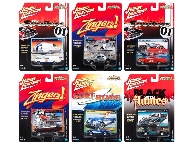 Street Freaks 2017 Release 1D Set of 6 cars 1/64 Diecast Model Cars by Johnny Lightning