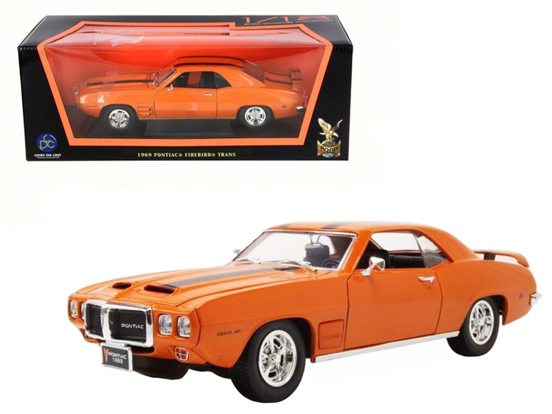 1969 Pontiac Firebird Trans Am Orange 1/18 Diecast Model Car Road Signature 92368