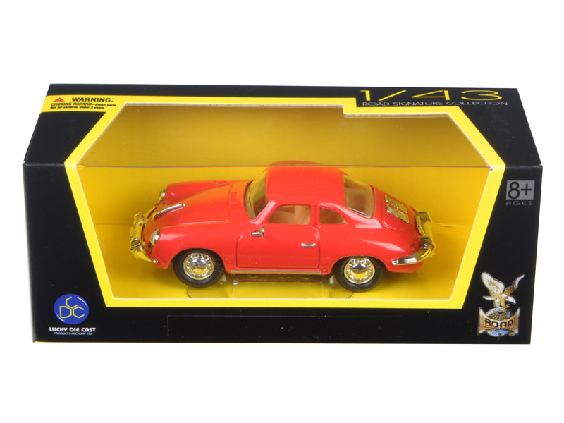 1956 Porsche 356 B/C Red 1/43 Diecast Model Car Road Signature 94220