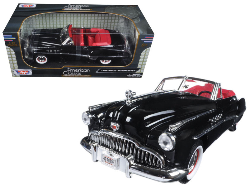 1949 Buick Roadmaster Black 1/18 Diecast Model Car Motormax 73116