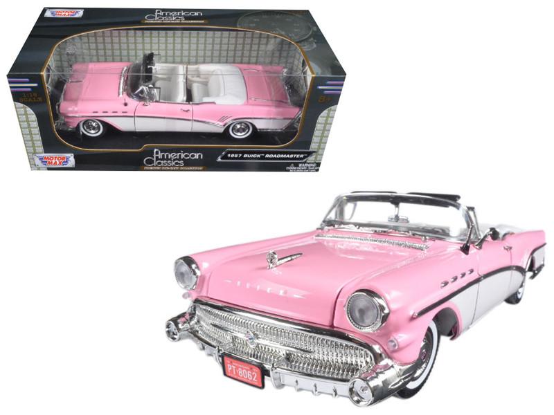 1957 Buick Roadmaster Pink 1/18 Diecast Model Car Motormax 73152