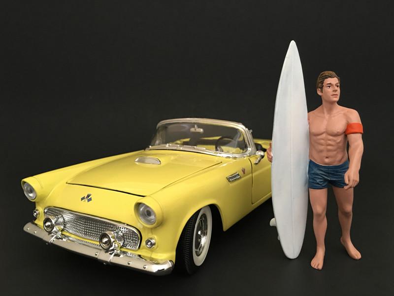 Surfer Greg Figure For 1:18 Scale Models American Diorama 77441