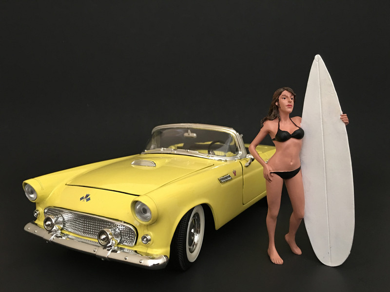 Surfer Casey Figure For 1:24 Scale Models American Diorama 77489