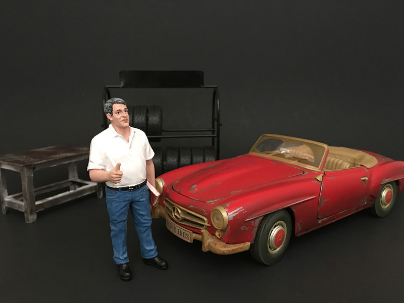 Mechanic Manager Tim Figure For 1:24 Scale Models American Diorama 77493