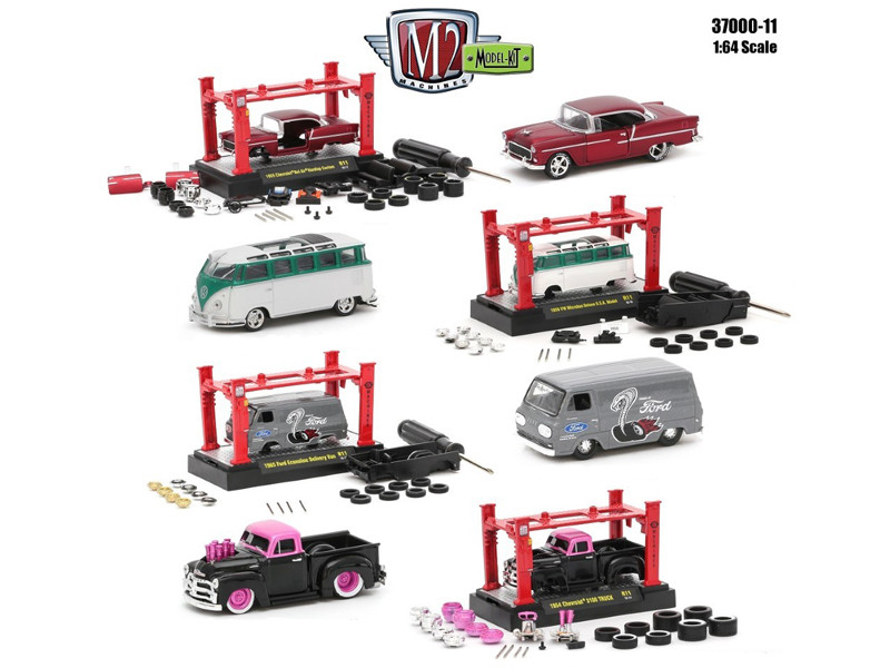 Model Kit 4 Pieces Set Release 11 1/64 Diecast Model Cars M2 Machines 37000-11