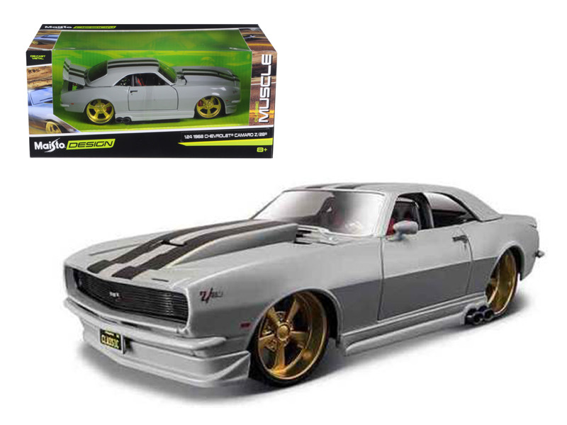 "1968 Chevrolet Camaro Z/28 Silver \Classic Muscle"" 1/24 Diecast Model Car by Maisto"""