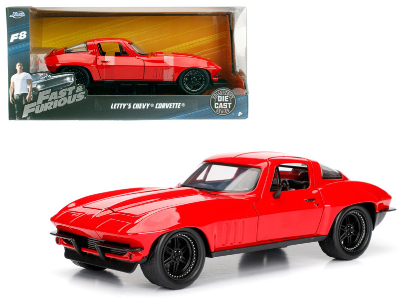 Letty's Chevrolet Corvette Fast & Furious F8 The Fate of the Furious Movie 1/24 Diecast Model Car Jada 98298