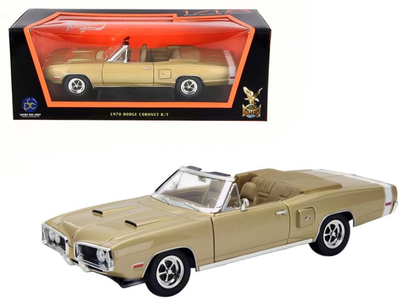 1970 Dodge Coronet R/T Gold 1/18 Diecast Model Car Road Signature 92548