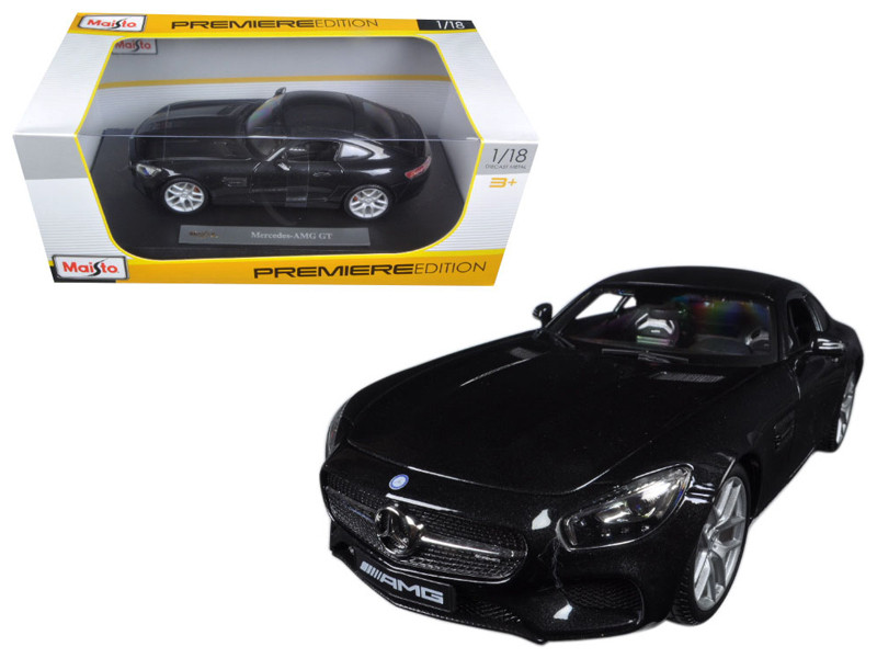 Mercedes AMG GT Metallic Black 1/18 Diecast Model Car Maisto 36204