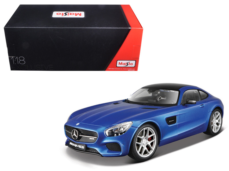 Mercedes AMG GT Metallic Blue Exclusive Edition 1/18 Diecast Model Car Maisto 38131