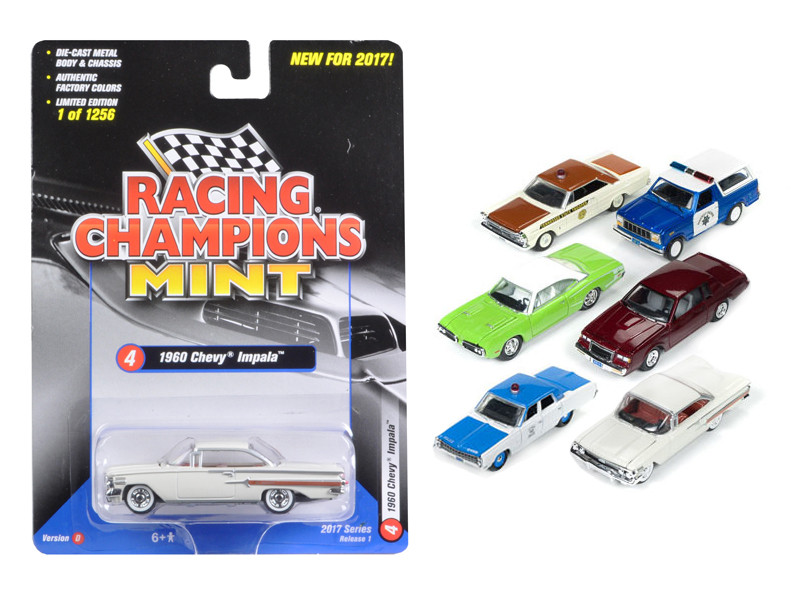 Mint Release 2017 Set D Set of 6 cars 1/64 Diecast Model Cars Racing Champions RC003 D