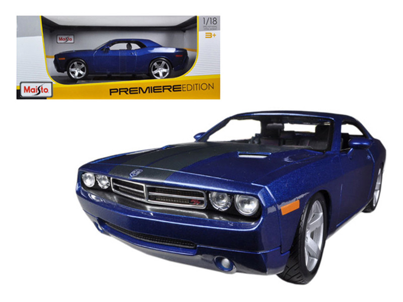 2006 Dodge Challenger Concept Blue 1/18 Diecast Model Car Maisto 36138