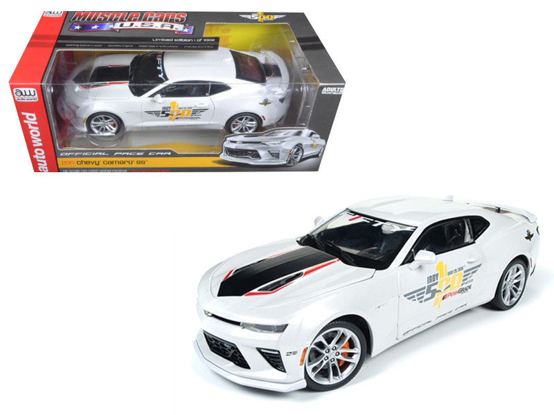 2017 Chevrolet Camaro SS Indy Pace Car 50th Anniversary Limited Edition to 1002pcs 1/18 Diecast Car Model Autoworld AW236