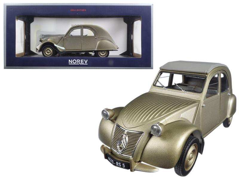 1950 Citroen 2CV A Gold 1/18 Diecast Model Car Norev 181497