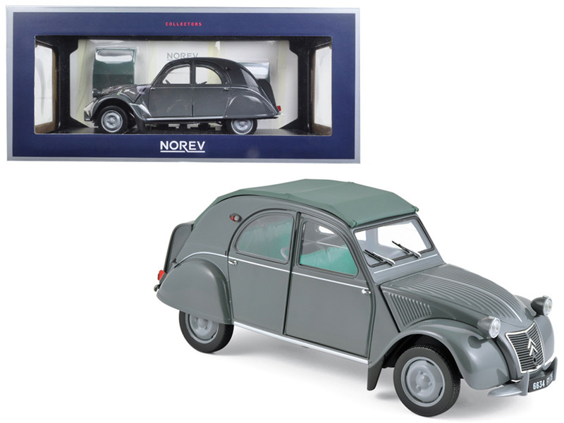 1957 Citroen 2CV AZL Malle Bombee Grey 1/18 Diecast Model Car Norev 181499