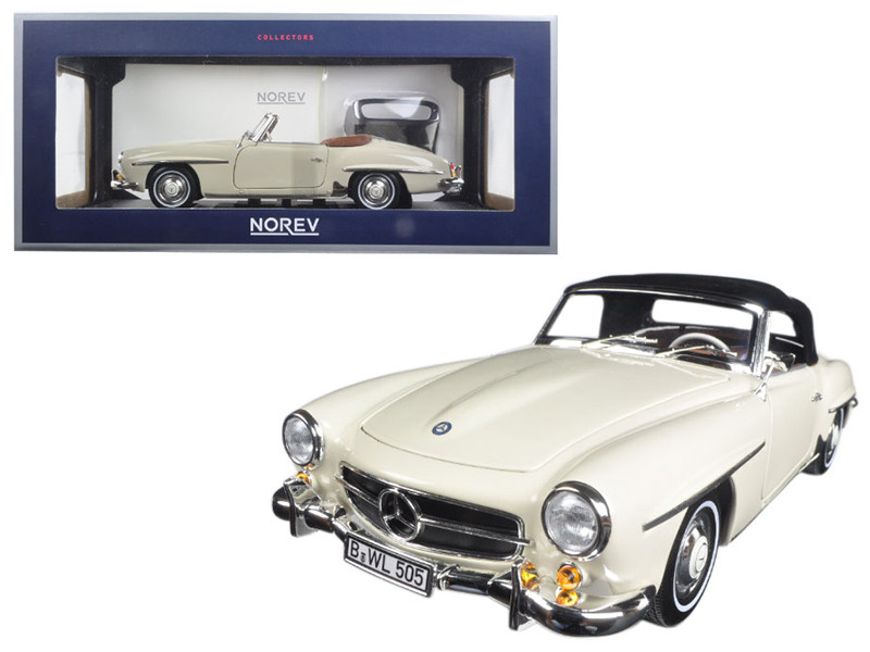 1957 Mercedes 190 SL Ivory 1/18 Diecast Model Car Norev 183539