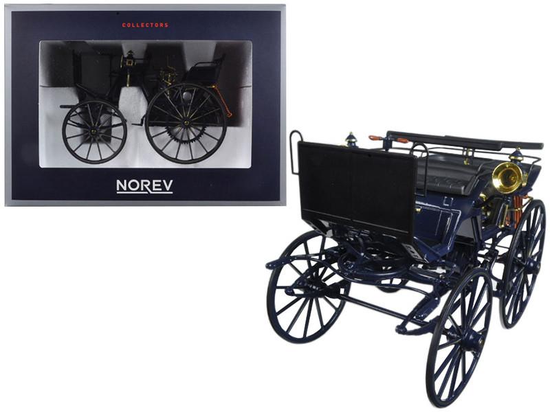 1886 Daimler Motorkutsche Dark Blue 1/18 Diecast Model Car Norev 183700