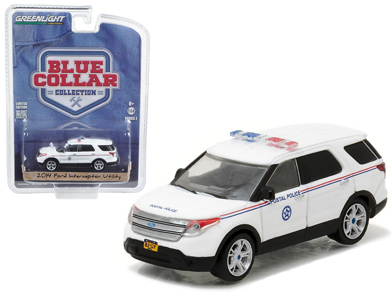 2014 Ford Explorer United States Postal Service USPS Postal Police 1/64 Diecast Model Car Greenlight 35060 D