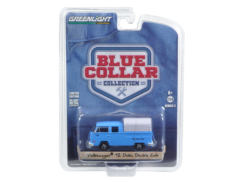Volkwagen T2 Doka Crew Cab with Canopy 1/64 Diecast Model Car by Greenlight