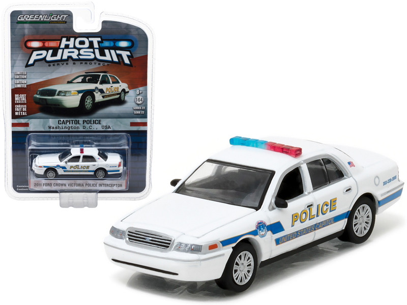 2011 Ford Crown Victoria Police Interceptor Capitol Police Washington DC 1/64 Diecast Model Car Greenlight 42790 A