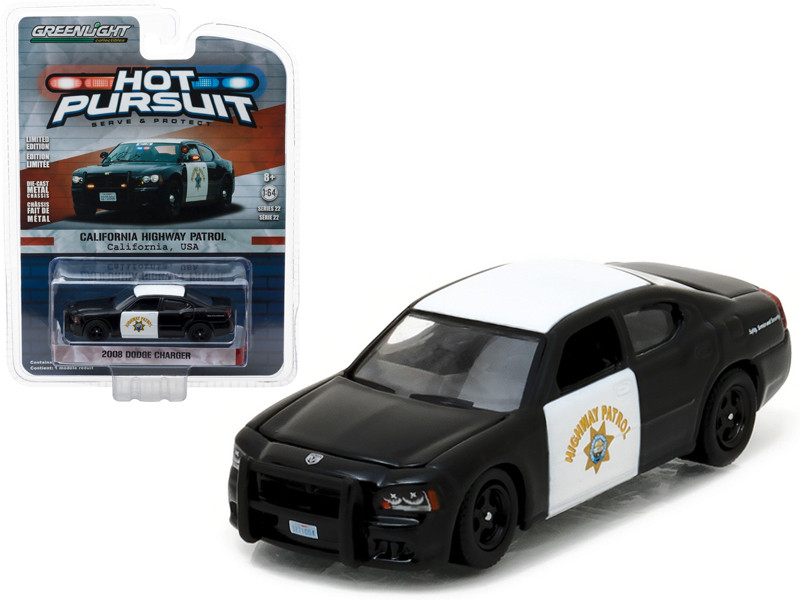 2008 Dodge Charger California Highway Patrol CHP 1/64 Diecast Model Car Greenlight 42790 D