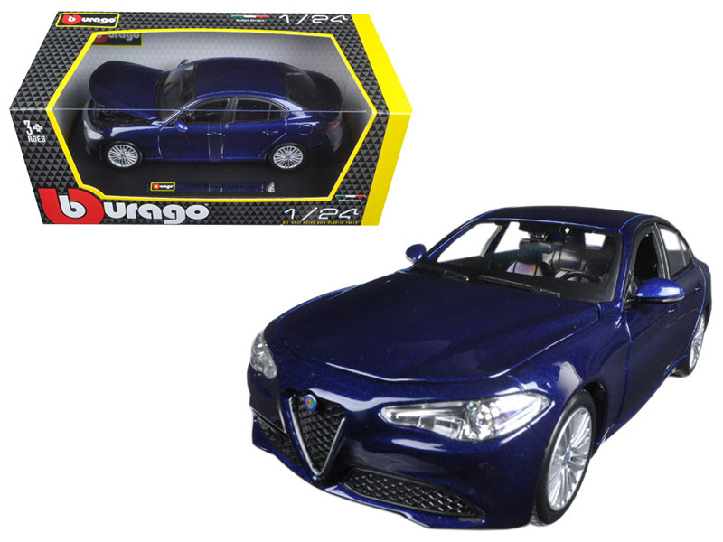 2016 Alfa Romeo Giulia Blue 1/24 Diecast Model Car Bburago 21080