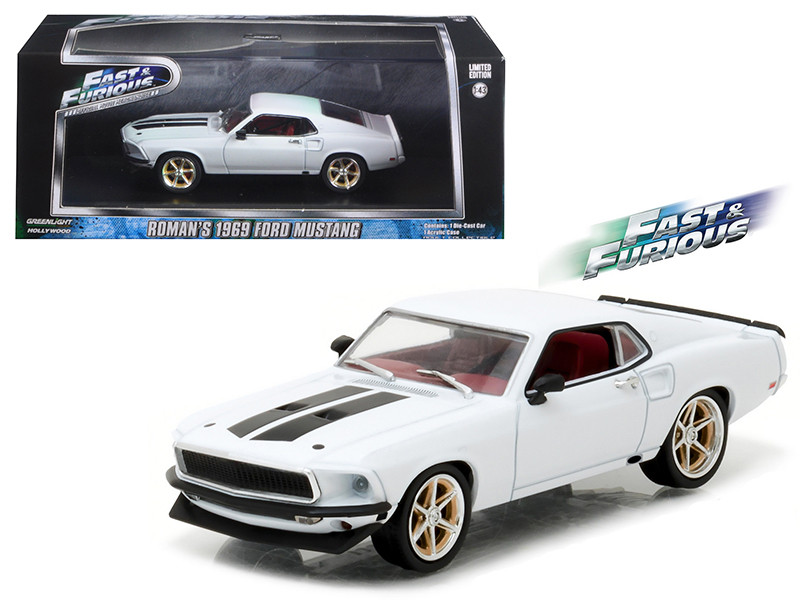 1969 Ford Mustang Custom Anvil Halo Fast and Furious 6 Movie 2013 1/43 Diecast Model Car Greenlight 86236