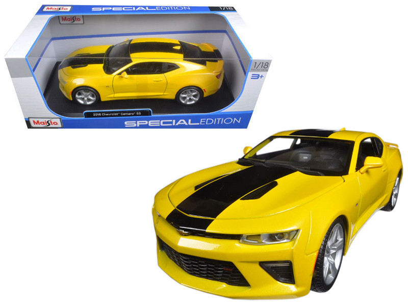 2016 Chevrolet Camaro SS Yellow 1/18 Diecast Model Car Maisto 31689