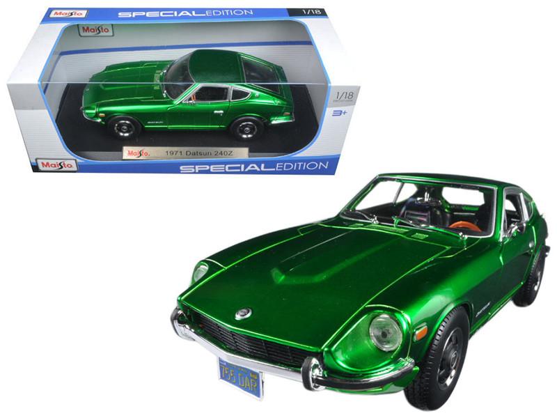 1971 Datsun 240z Green 1/18 Diecast Model Car Maisto 31170