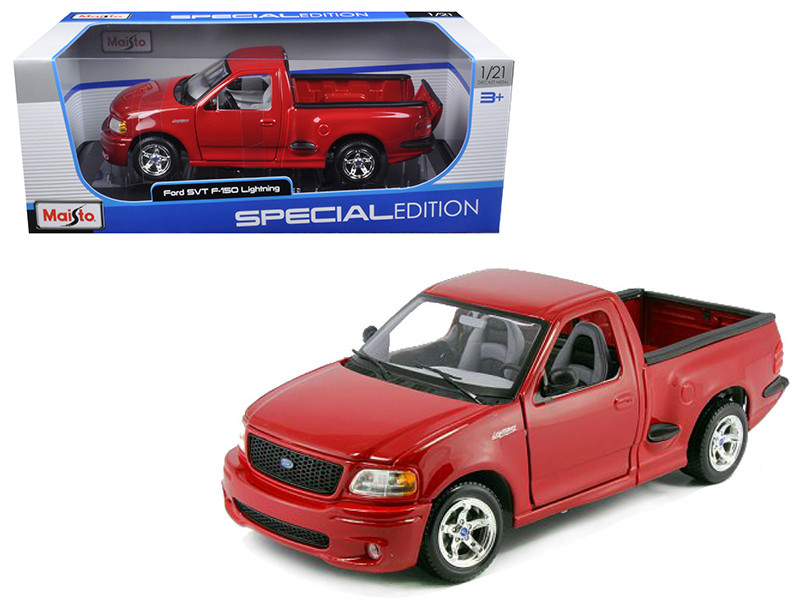Ford F-150 SVT Lightning Red Without Surf Boards Diecast Car Model 1/21 Maisto 31141