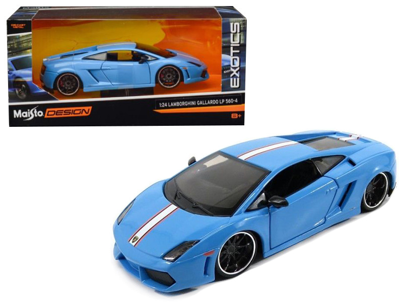 Lamborghini Gallardo LP 560-4 Satin Blue Exotics 1/24 Diecast Model Car Maisto 31352