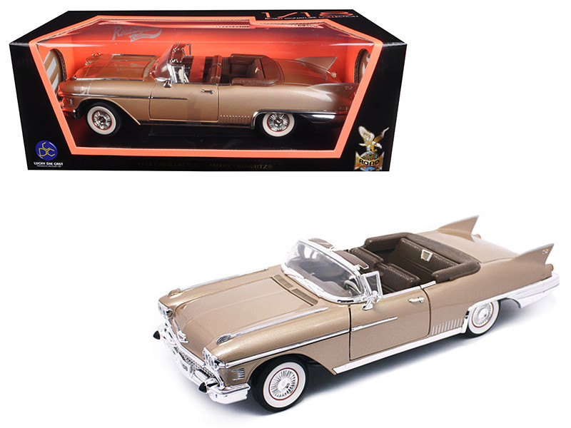 1958 Cadillac Eldorado Biarritz Gold 1/18 Diecast Model Car Road Signature 92158
