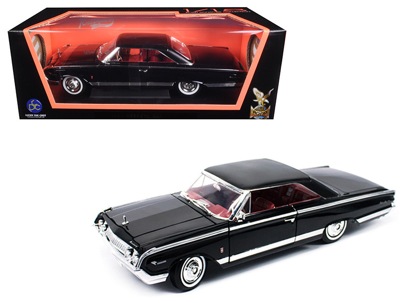 1964 Mercury Marauder Black 1/18 Diecast Model Car Road Signature 92568