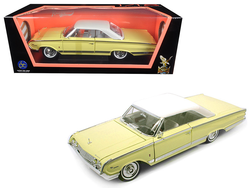 1964 Mercury Marauder Yellow 1/18 Diecast Model Car Road Signature 92568