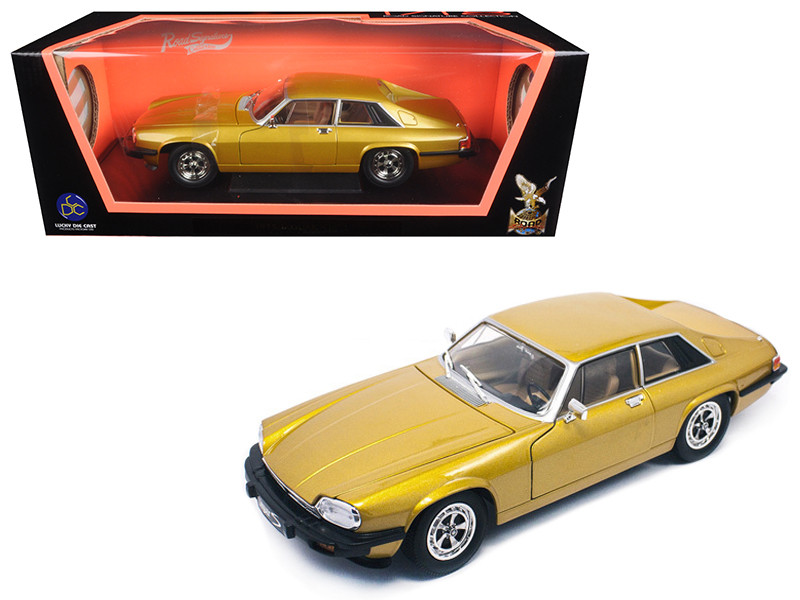 1975 Jaguar XJS Coupe Gold 1/18 Diecast Model Car Road Signature 92658