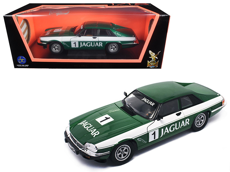 1975 Jaguar XJS Coupe Racing Green #1 1/18 Diecast Model Car Road Signature 92658