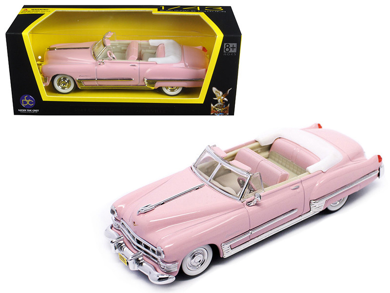 1949 Cadillac Coupe De Ville Pink 1/43 Diecast Model Car Road Signature 94223